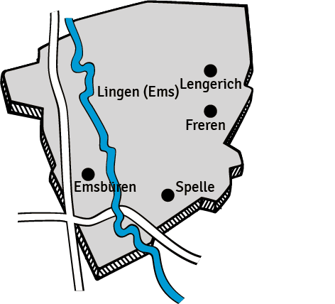 Aktuelles-75-Jahre-Lingener-Tagespost-Gebieskarte