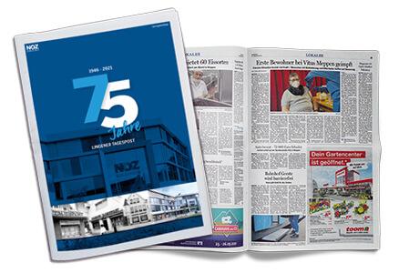 Aktuelles-75-Jahre-Lingener-Tagespost_Titelseite