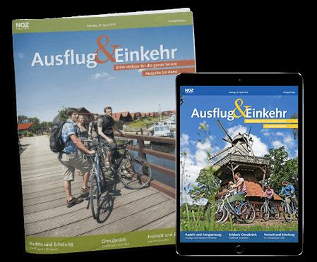 Aktuelles-Ausflug-und-Einkehr-Titelseite-und -Tabletansicht-Fahrradfahrer