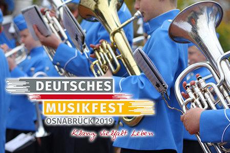 Aktuelles-Deutsche-Musikfest-Blasmusiker-und-Logo
