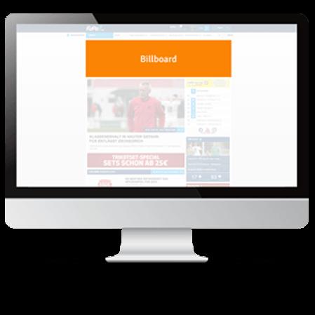 FuPa.net Werbemöglichkeit: Billboard