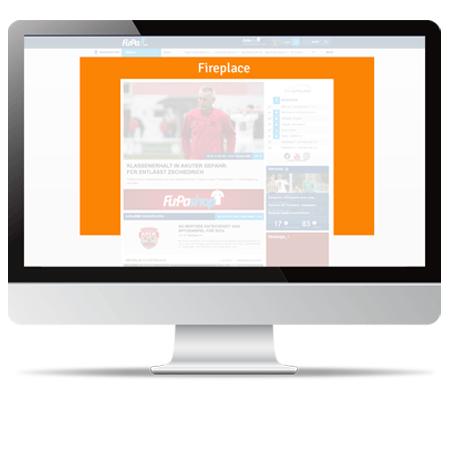 FuPa.net Werbemöglichkeit: Fireplace Ad