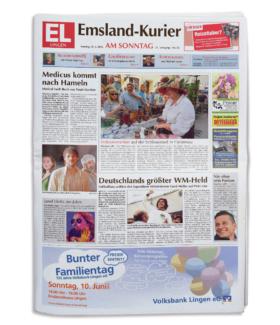 Emsland-Kurier-Titelseite
