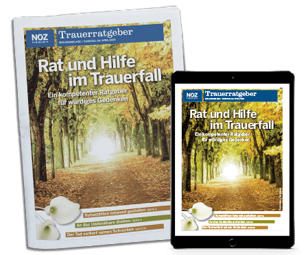 Aktuelles_Trauerratgeber 2021_Titelseite-und-Tabletansicht-Bäume