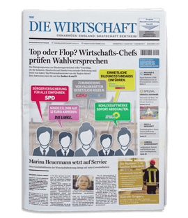 Wirtschaftszeitung-Titelseite