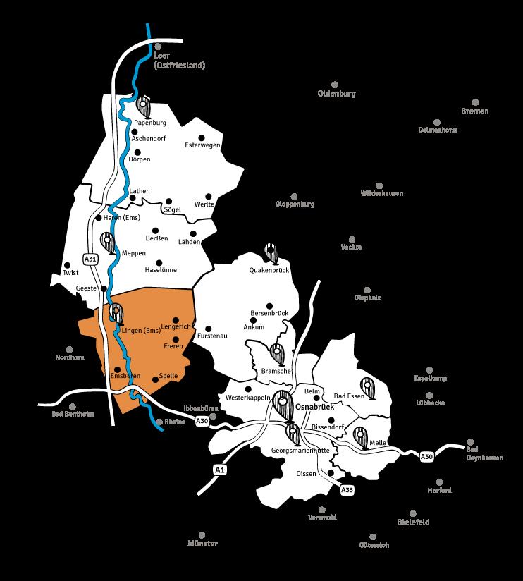 lingener-tagespost-karte-verbreitungsgebiet